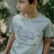 Camiseta Niño Gris Born to Be Extraordinary