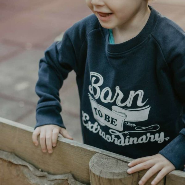 Sudadera niño azul Born to Be Extraordinary
