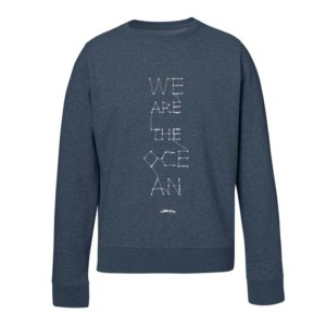 Sudadera con Mensaje Solidaria We are the Ocean Unisex Azul Celeste