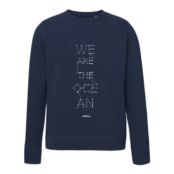 Sudadera con Mensaje Solidaria We are the Ocean Unisex Azul