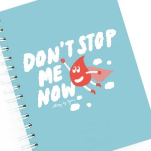 Libreta A5 papel FSC Dont Stop me Now by Lyona