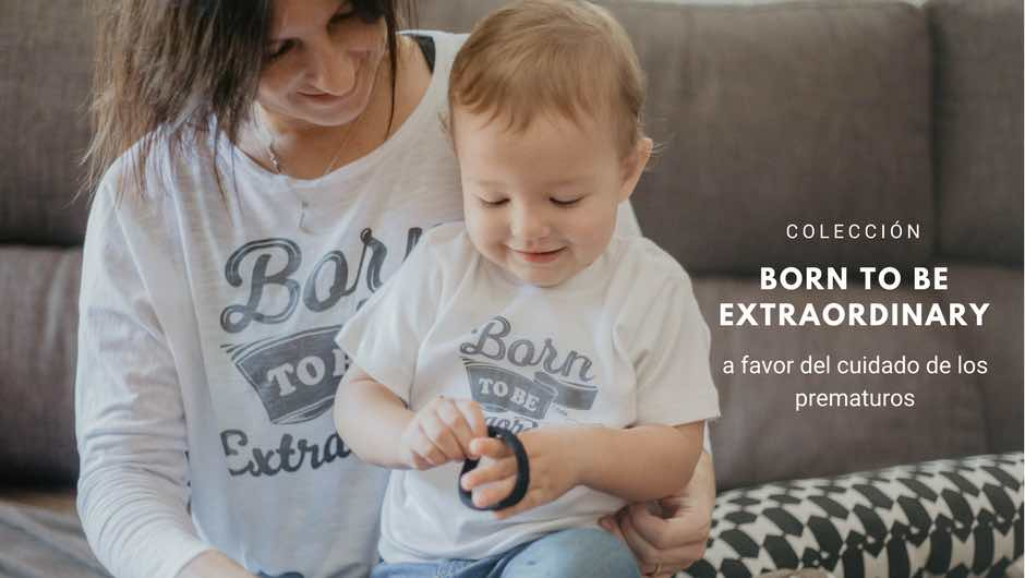 Camisetas con Mensaje Solidarias Born to Be Extraordinary