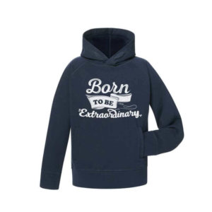 Hoodie Niño Azul Born to Be Extraordinary Unisex