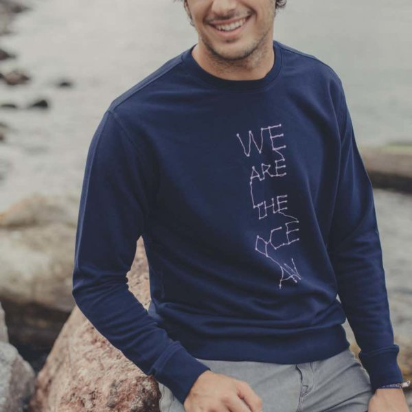 Hombre con Sudadera Unisex We are the Ocean Azul