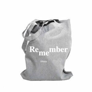 Tote Bag Gris Diseño Solidaria Remember Me