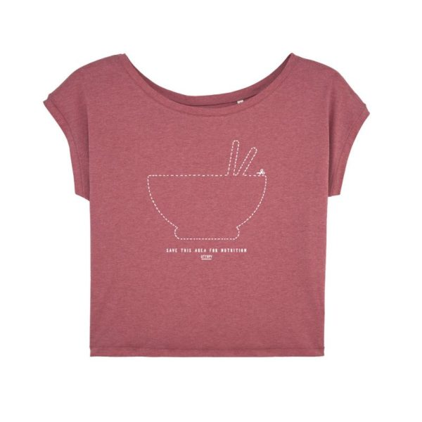 Camiseta Solidaria Mujer Save this Area for Nutrition