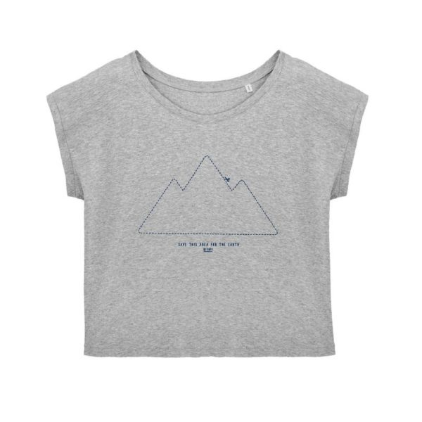 Camiseta Solidaria Mujer Save this Area for the Earth