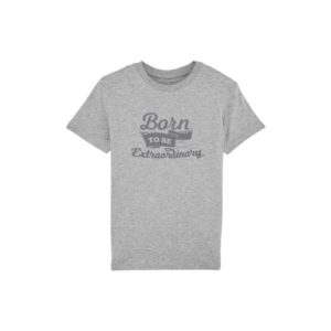 Camiseta Gris niño con Mensaje Born to Be Extraordinary