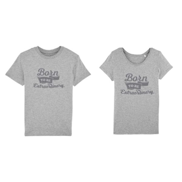 Camisetas para parejas Born to Be Extraordinary 14