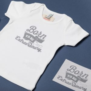 Foto Camiseta Algodon Organico Bebe Born to Be Extraordinary