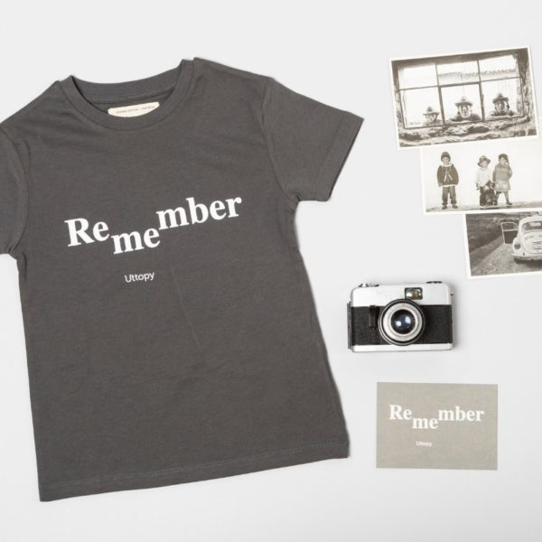 Camiseta Niño Gris Remember Me