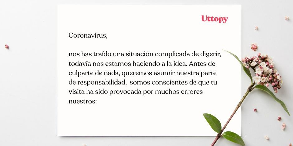 Carta al coronavirus Uttopy