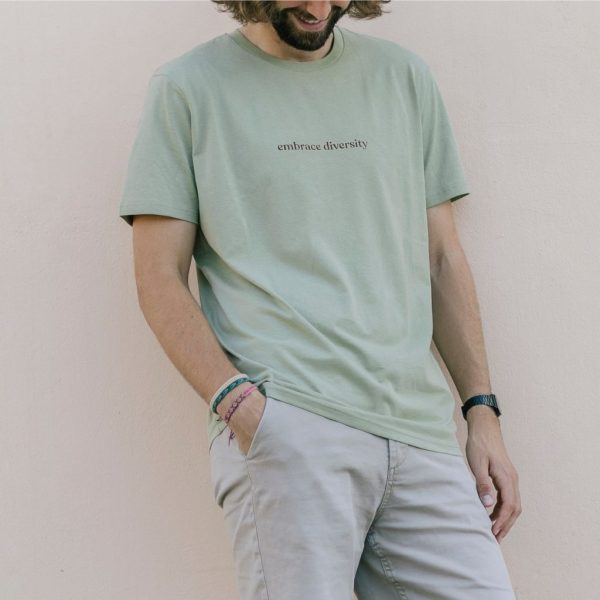 Camiseta con Mensaje Solidaria Unisex